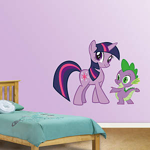 Twilight Sparkle and Spike Fathead Wall Decal